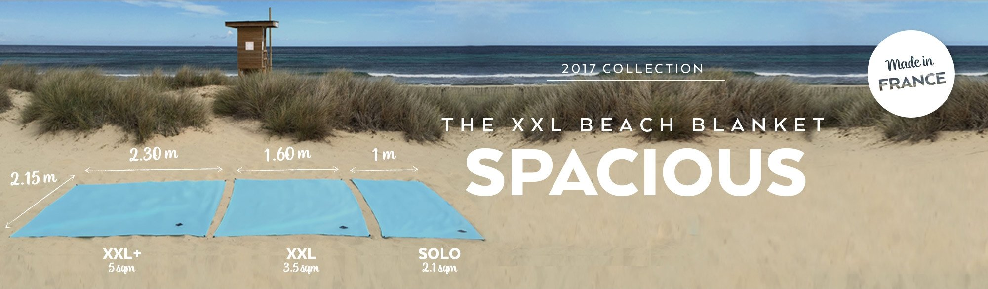 The spacious beach blanket
