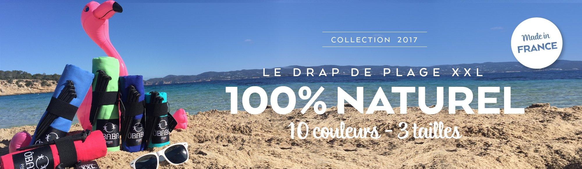 Le drap de plage 100% naturel