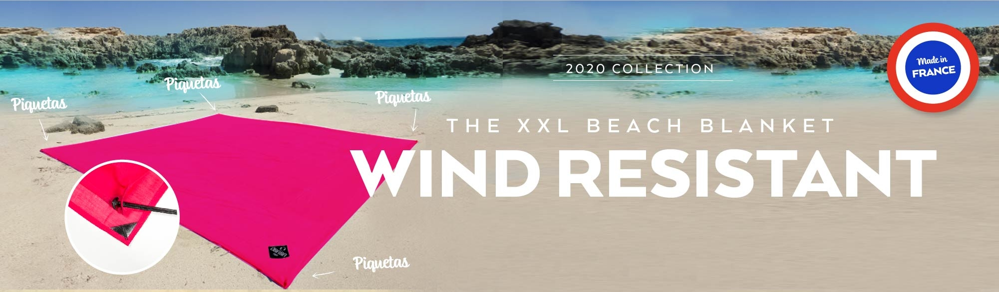 The wind resistant beach blanket