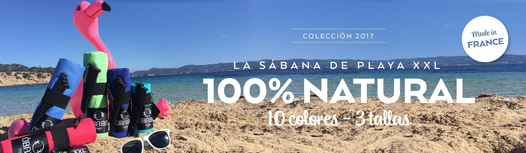 La sabana de playa 100% natural